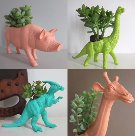 Recycled plastic animals