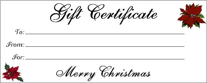 Nice All Things Christmas: Printables: Christmas Gift Certificates