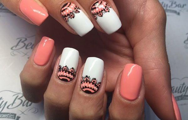 Diseños de uñas con Gel, diseño uñas de gel pincelados.   #decoraciondeuñas #decoratednails #uñasconbrillos