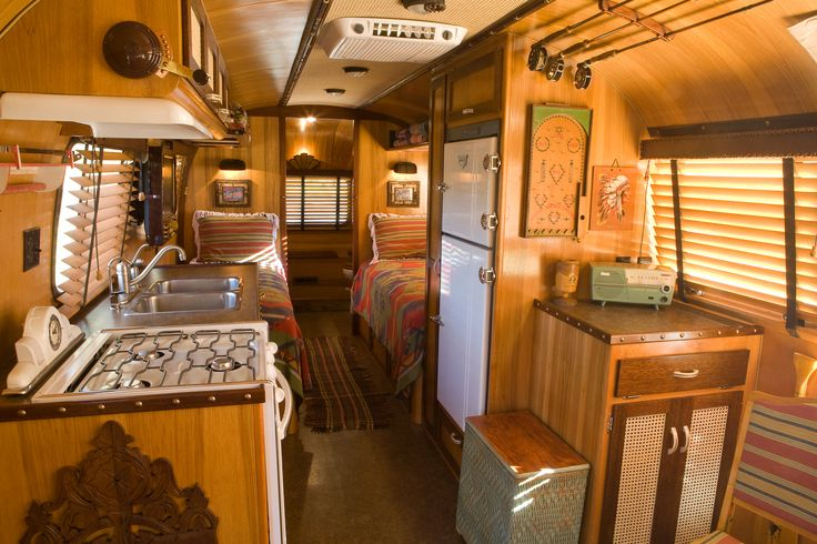 Vintage Airstream Trailers Interior The Adirondack
