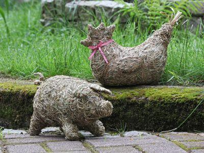 Deco Tiere aus Heu                                                                                                                                                                                 Mehr
