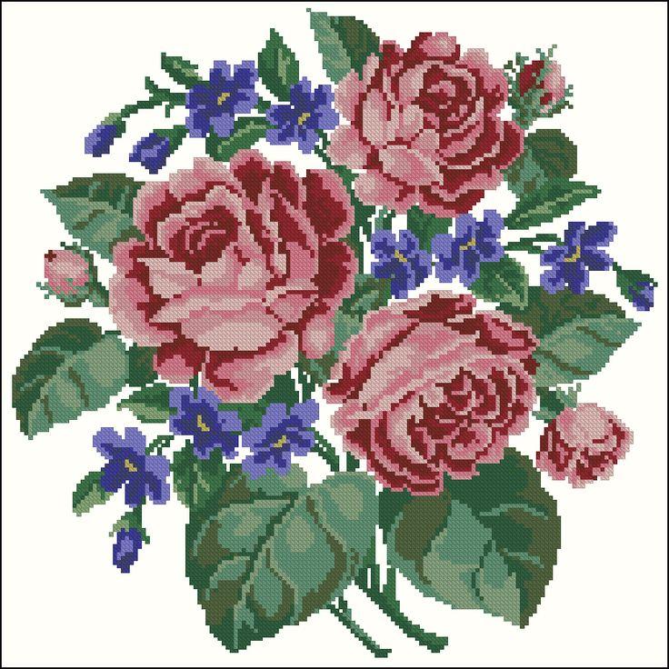 Rose-Bouquet Pillow
