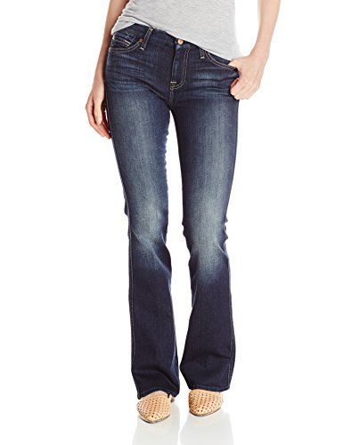 """New Trending Denim: 7 For All Mankind Womens A Pocket Jean in Cypress Sanded Dark, Cypress Sanded Dark, 28. 7 For All Mankind Women's """"A"""" Pocket Jean in Cypress Sanded Dark, Cypress Sanded Dark, 28  Special Offer: $185.00  366 Reviews Slight flared leg opening, features a contrasting a threadFlared-leg jean with fading through the knees featuring signature A-pocket..."""