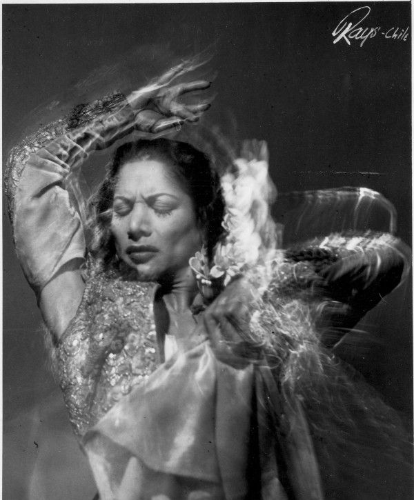 Dancer Carmen Amaya. Photo via Festival de Flamenco Carmen Amaya.