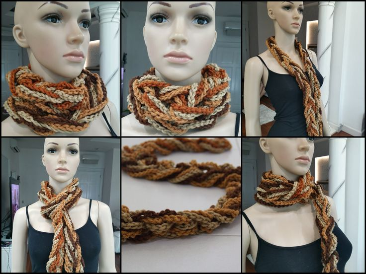 How To Crochet Scarf Tutorial Pattern #1( Easy Scarf /Chain Only)