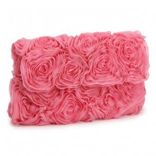 Жемчуг кружева и оборки: Роза-Shaped вечерние сумки