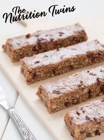 Healthy Homemade Granola Bars | Easy to Make | Only 117 Calories | Great Snack On-The-Go | For MORE RECIPES please SIGN UP for our FREE NEWSLETTER www.NutritionTwins.com