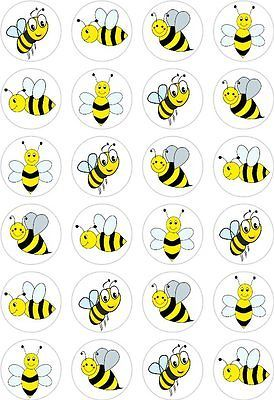 24 #bumble bee cupcake #fairy cake #toppers edible rice wafer paper decorations,  View more on the LINK: 	http://www.zeppy.io/product/gb/2/161829619878/