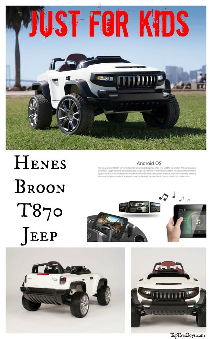 Luxury Cars for Kids - Jeeps are fun to ride around the back yard or out on the side walk.