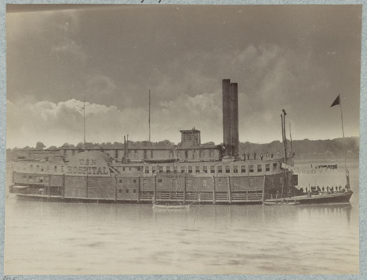 U.S. hospital boat Red Rover - Mississippi River Fleet.  photographed between 1861 and 1865