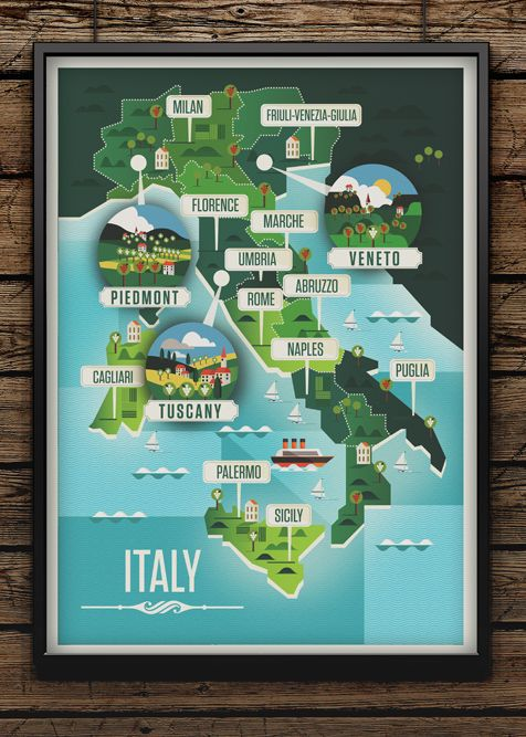 Majestic Wine Maps on Illustration Served