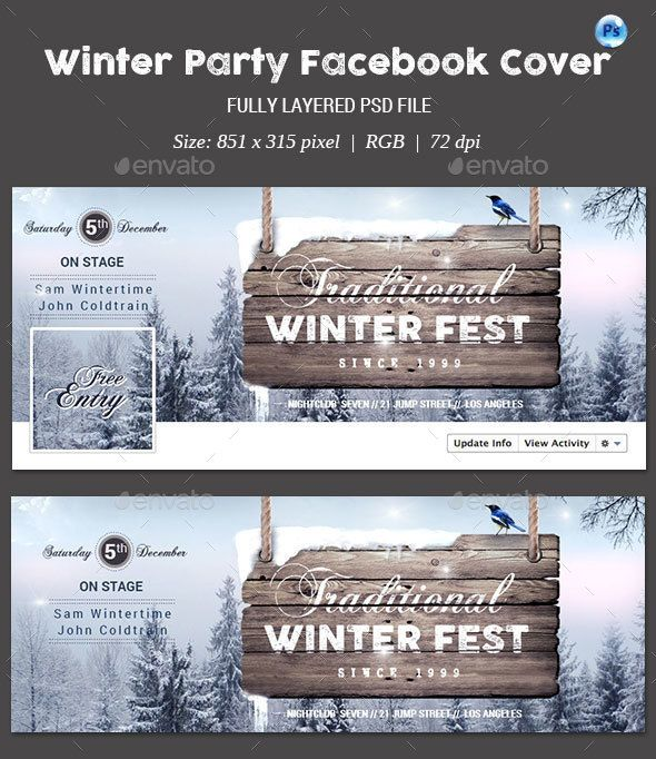 Winter Party Facebook Cover — Photoshop PSD #advertisement #drink • Download here → https://graphicriver.net/item/winter-party-facebook-cover/13367646?ref=pxcr