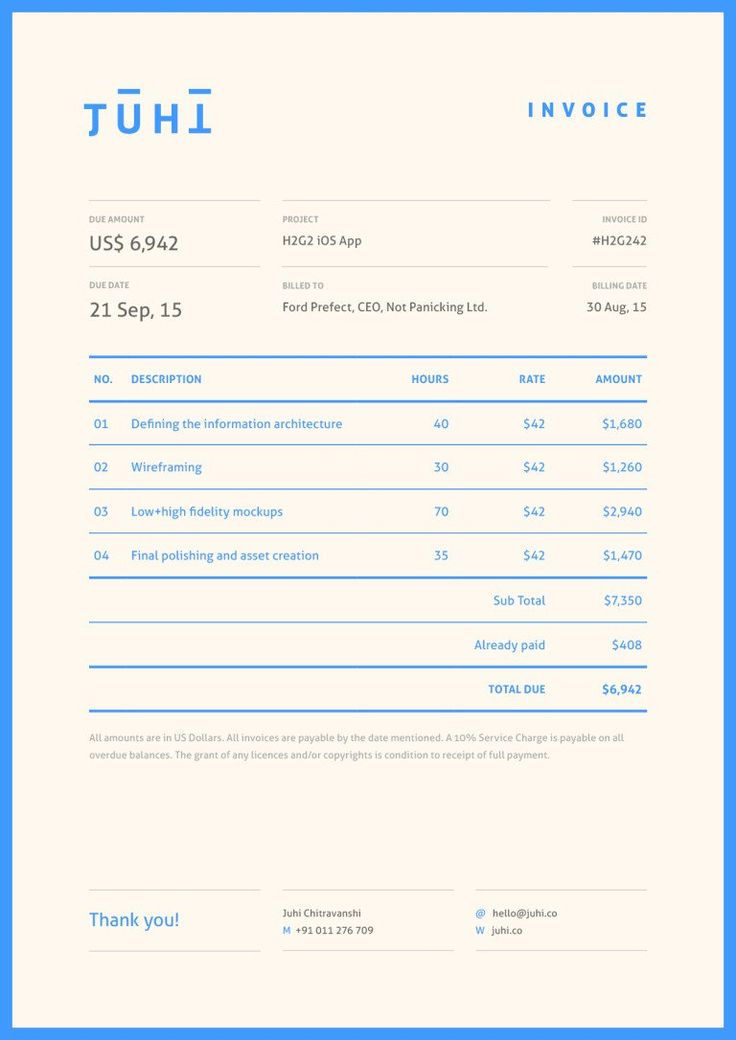 22 best Invoices images on Pinterest Brand identity, Corporate
