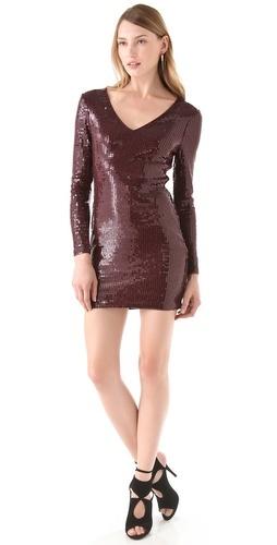 Georgina wore the Robert Rodriguez V Neck Sequin Mini Dress on the series finale of Gossip Girl