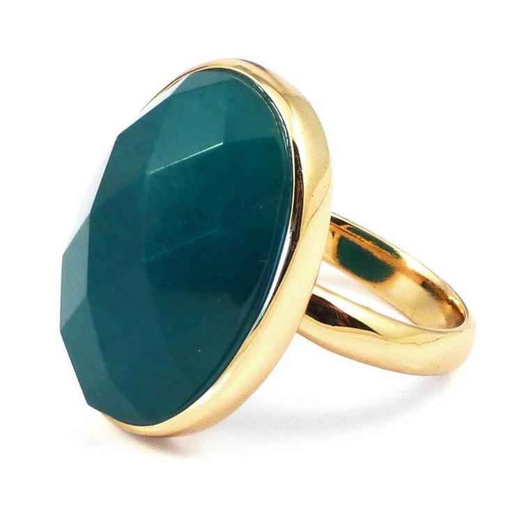 Lola Rose Chester Teal Quartzite Ring
