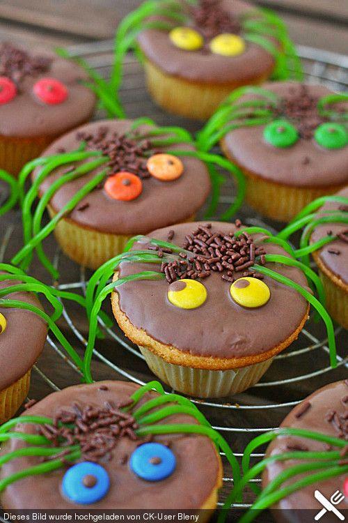Spider muffins for Halloween  – Lieblingsrezepte