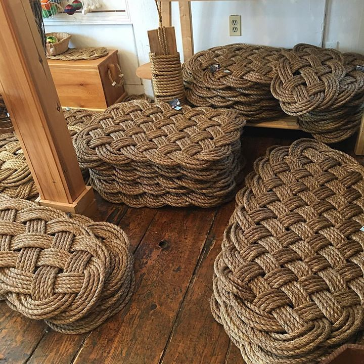 Nautical rope door mats by Mystic Knotworks: https://mysticknotwork.com/collections/nautical-door-mats-and-entry Handmade in the USA!