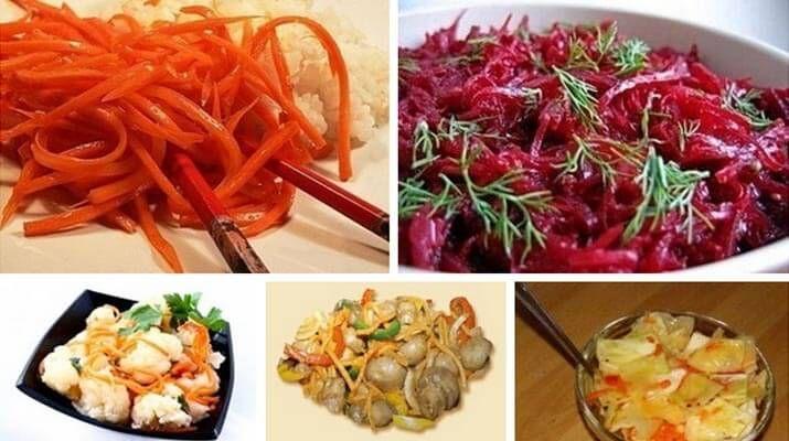 1. Морковь по-корейски Ингредиенты: — 500 г крупной сочной моркови — 1 столовая ложка соли …
