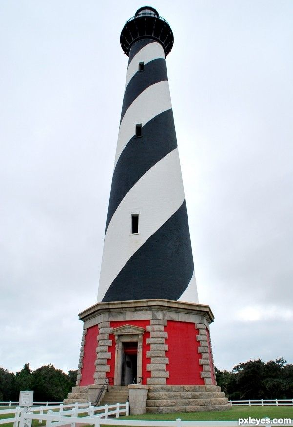Cape Hatteras Lighthouse...the 1st lighthouse we ever climbed...on one of the hottest days on record for that time of year in OBX!