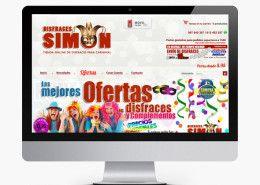 Diseño de tiendas y empresas de venta online. http://www.basicum.es/portfolio-item/tienda-online-disfraces-simon/