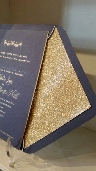 I am soooo excited about the gold glitter lining of my handmade envelopes
