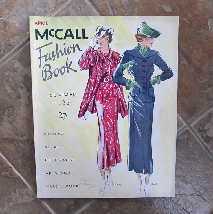 Summer 1935 McCall Fashion Pattern Book 74pgs 1930s Magazine Catalog 13-3/4x 10-3/4 illustrates in color & black & white McCall patterns for sale excellent pristine sld 43.88+7 3bds 5/13/16