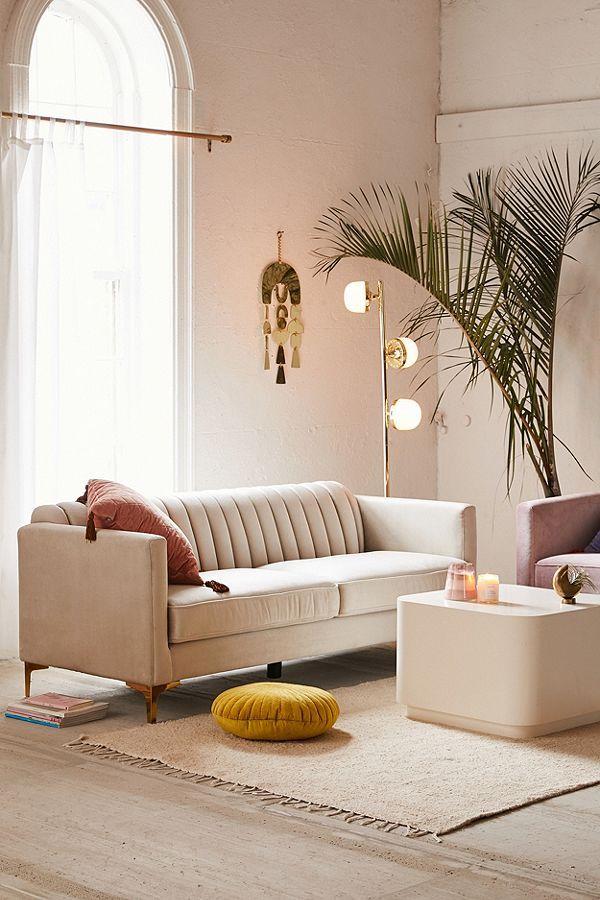 Marcella Velvet Sofa Sofas For Small Spaces Couches For Small Spaces Comfortable Sofa
