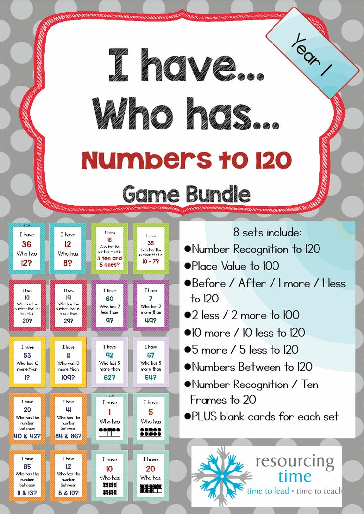 Game Bundle - I have Who Has Numbers Up to 120!