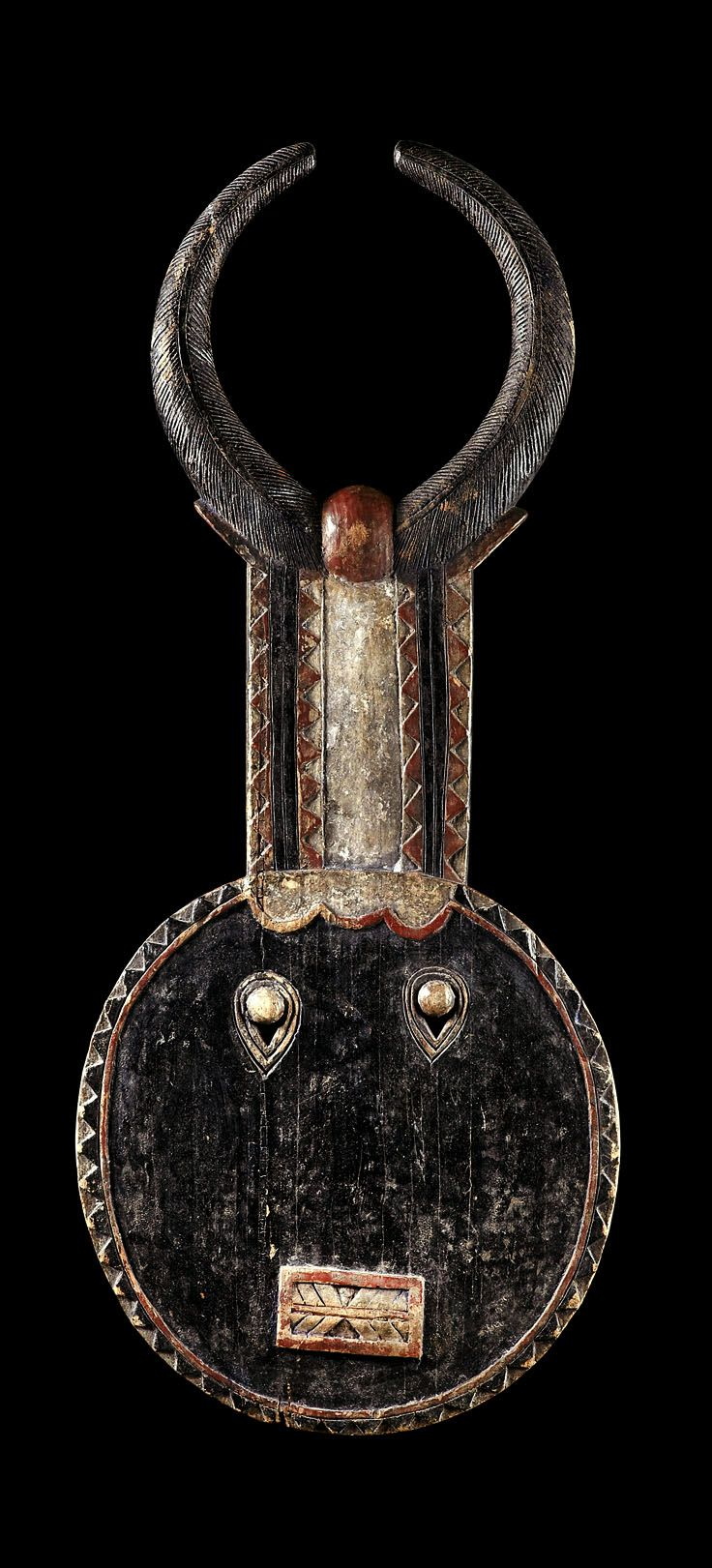 Africa | 'Goli' mask from the Baule people of the Ivory Coast | Wood and pigment