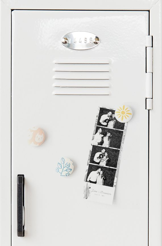 DIY Fabric Locker Magnets