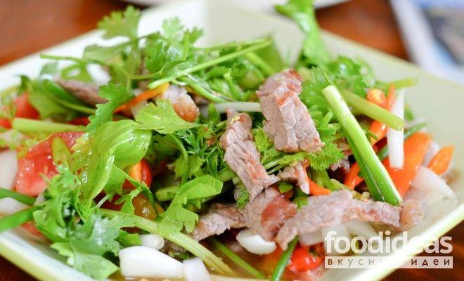 Салат из говядины с грибами - рецепт приготовления с фото   FOODideas.info