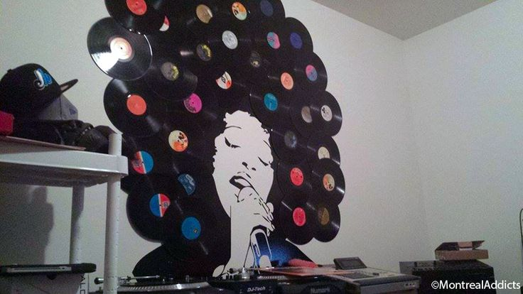 Décoration et DIY avec des vinyles via le blog Montreal Addicts http://montreal-addicts.com/decoration-vinyles-diy/