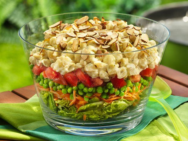 Layered Curry Pasta Salad