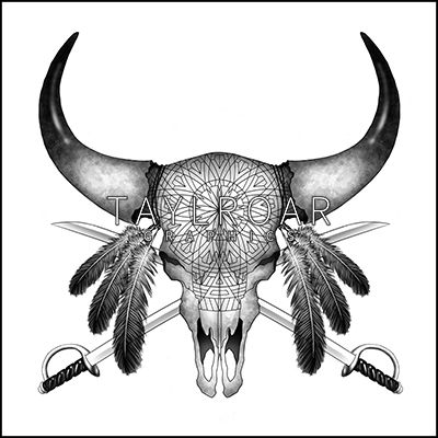 This new Native American bison skull tattoo design is available in the store now. Unique tattoo design only for one purchase. www.taylroargraphics.com
