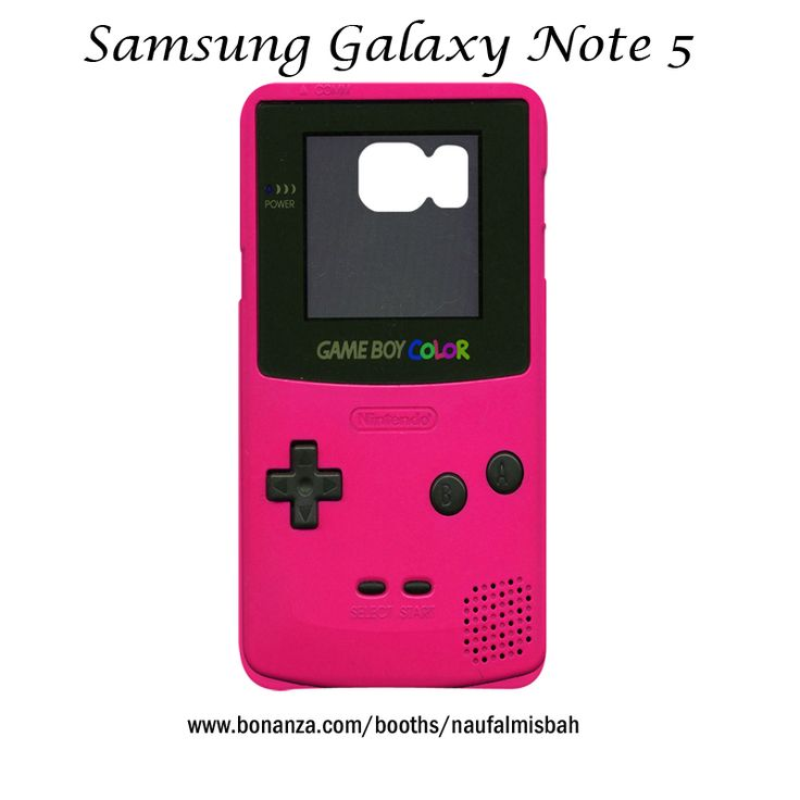 Game Boy Color Pink Samsung Galaxy Note 5 Case Cover Wrap Around
