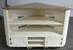 Another custom piece designed for corner entertainment center! Let us design one to fit your specific needs today!