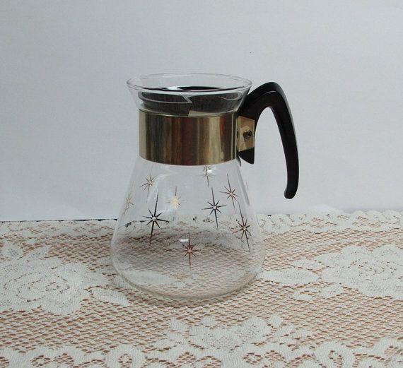 Vintage Corning Glass Teapot Atomic Starburst 4 by BusyOnBlackwood, $12.00