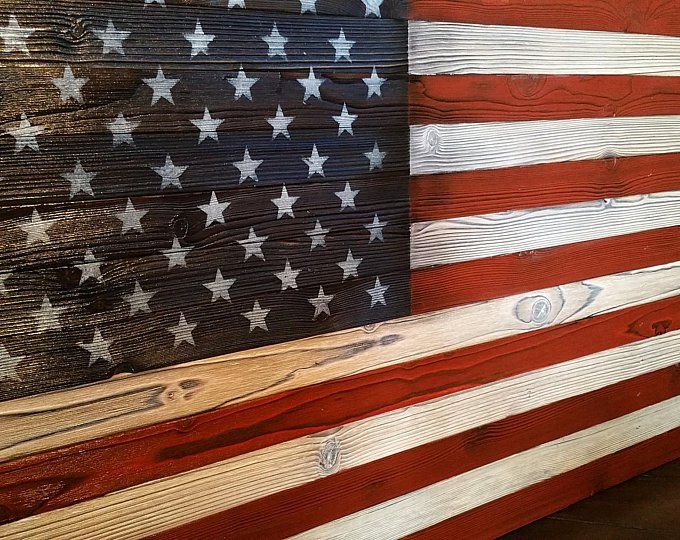 Hand Crafted Distressed Wood Flag Wall Art By Vintage81flags True Shou Sugi Ban Wooden American Flag Wood Flag How To Distress Wood Wooden American Flag