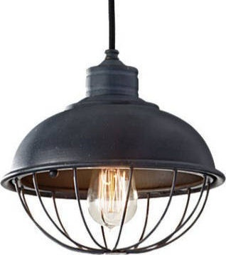 Industrial Edison hanging bulb pendant light.