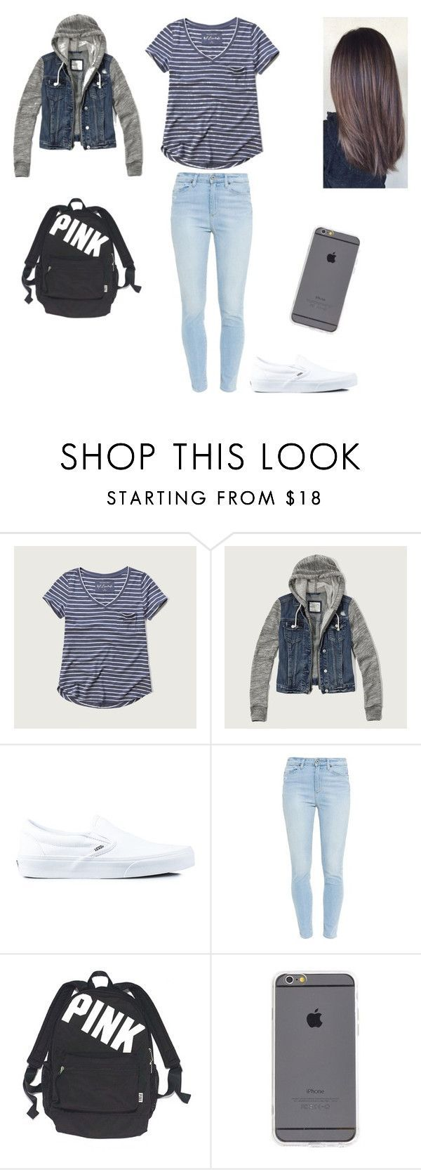 8th grade outfit by kemihereee ❤ liked on Polyvore featuring Abercrombie & Fitch, Vans, Paige Denim and Victoria's Secret