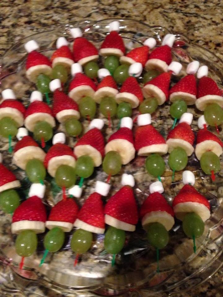 Santa fruit kabobs