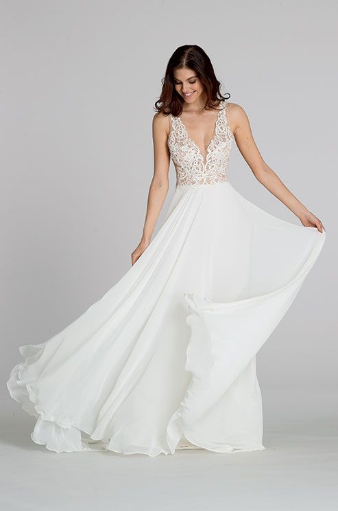 253 best Illusion Wedding Dresses images on Pinterest   Wedding ...