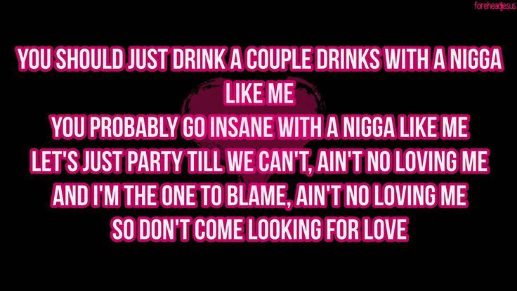 August Alsina ft. Nicki Minaj - No Love (LYRICS)