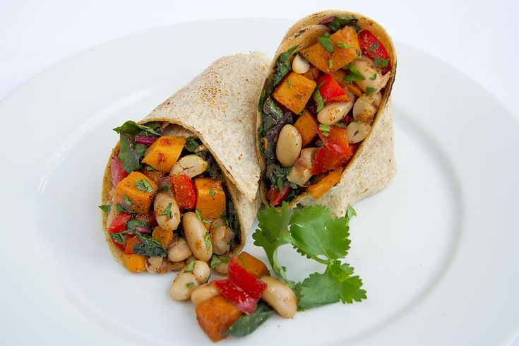 Satisfy burrito cravings with this veggie-packed, high-protein Swiss Chard and Sweet Potato Burrito, full of fiber and nutrients.