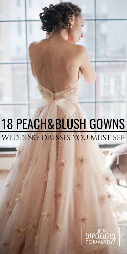 18 Stunning Peach & Blush Wedding Gowns You Must See ❤ Peach and blush is among the hottest wedding colour themes every year. See more: http://www.weddingforward.com/peach-blush-wedding-dresses/ #wedding #bride #weddingdress #blushweddinggowns
