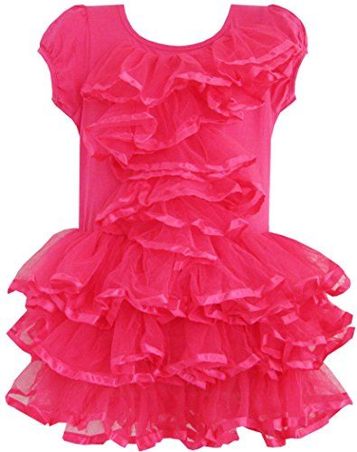 EA61 Sunny Fashion Girls Dress Peach Pink Tulle Tutu Dancing Party Kids Boutique 2 >>> Check out this great product.