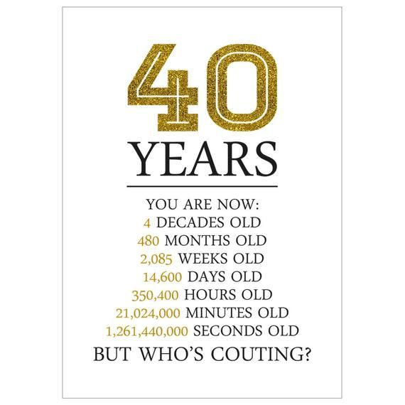 Happy 40th Birthday Card 40th Birthday Gifts For Women Men Etsy 30th Birthday Cards 60th Birthday Cards 40th Birthday Cards