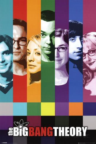 Big Bang Theory Signals Television Poster Affiches sur AllPosters.fr