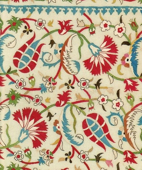 ornaments-of-the-world:  Detail of embroidered cover, Istanbul, 16th/early 17th century.