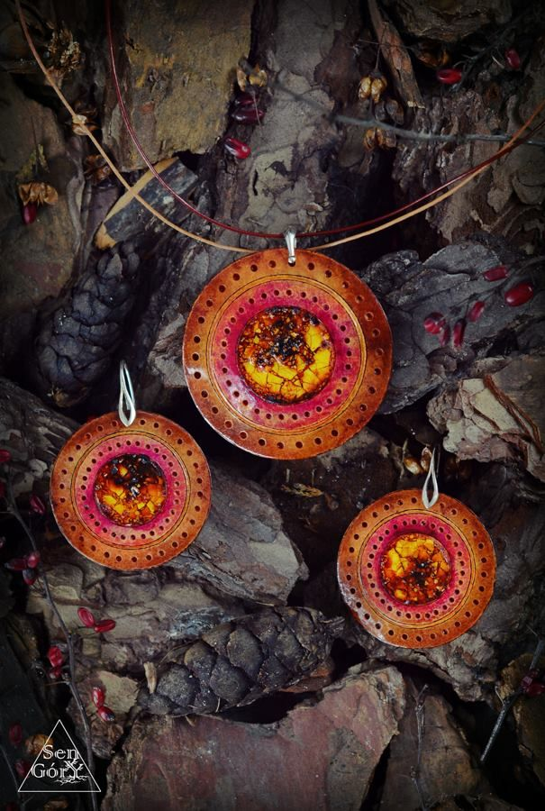 Ethno jewellery set by Sen Góry. http://www.facebook.com/SenGory